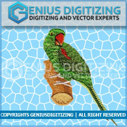 Genius Digitizing - Animal Embroidery Parrot