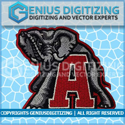 Genius Digitizing - Elephant Embroidery