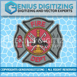 Genius Digitizing - Fire Deparment Patch